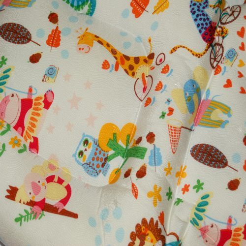 Animal Friends Pram Liner Close Up Image