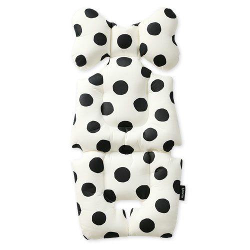 black polka dot pram liner image