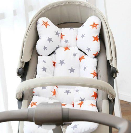 pram liner orange stars image