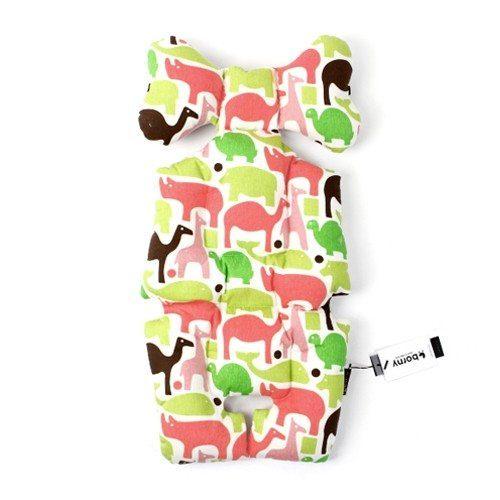 stroller liner pink animals image