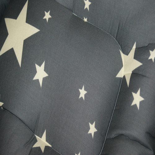 Storm and White Stars Pram Liner Close Up Image