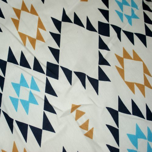 Aztec Blue Pram Liner Close Up Image