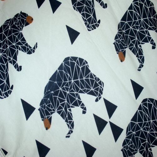 Mr Grizzly Bear Pram Liner Close Up Image