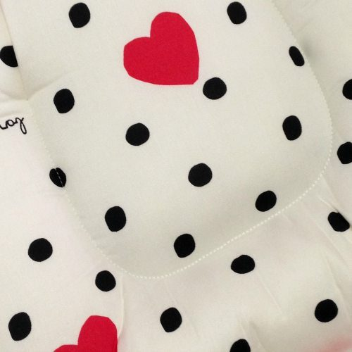 Sweet Heart White Pram Liner Close Up Image