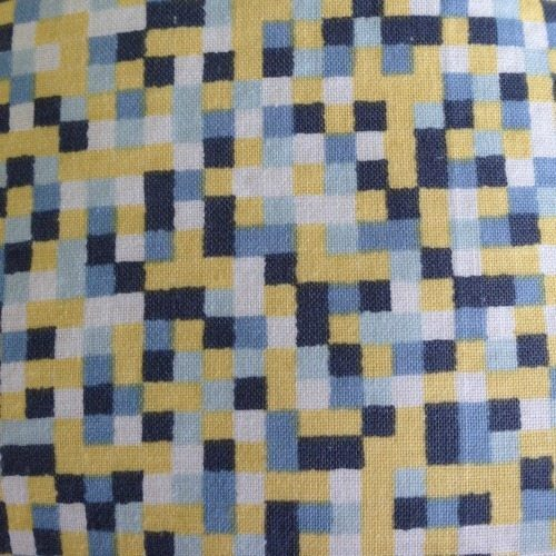 pram liner pixel patterns close up image
