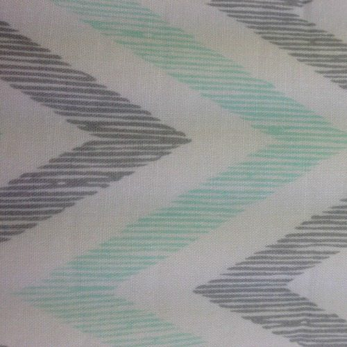 ziggy mint pram liner close up image