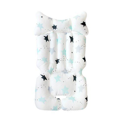 fairy stars blue pram liner image