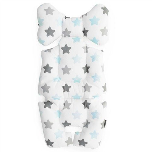 baby blue stars pram liner image