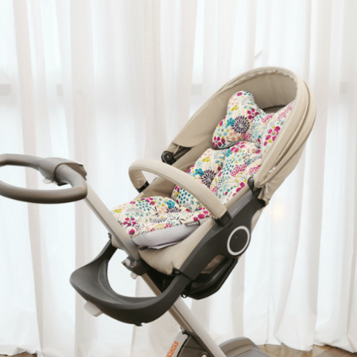 pram liner daisies and dragonflies image