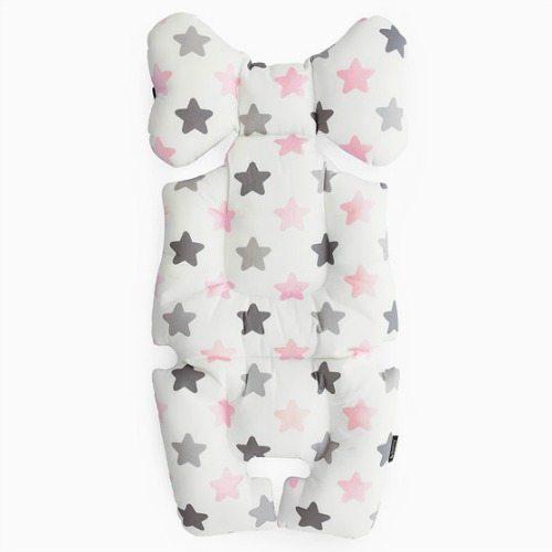 pastel pink stars pram liner image