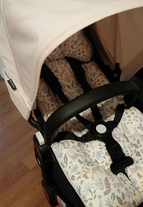 Blue Fawn pram liner in Bugaboo Donkey image