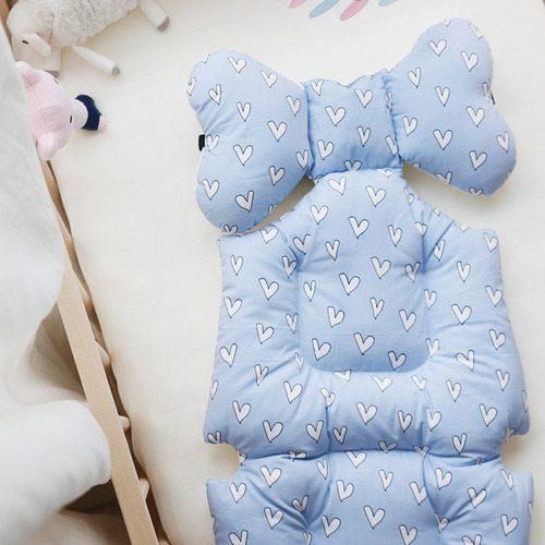 pram liner lovely blue image