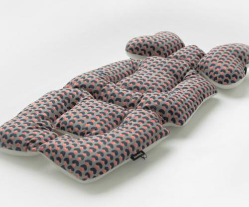 urban pastels stroller liner image